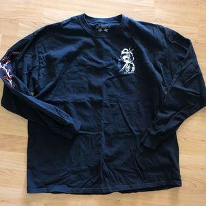 Black long sleeve T-shirt RIOT SOCIETY, XL